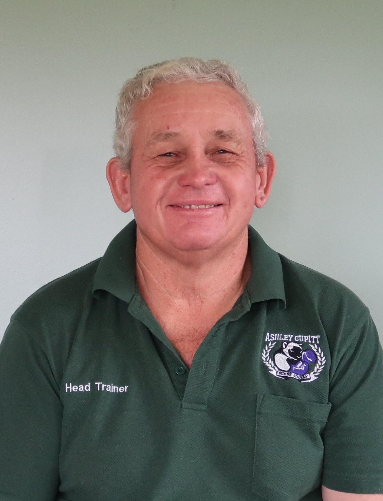 Ashley Cupitt, Head Trainer.