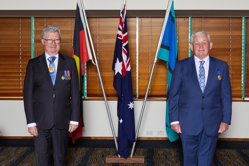 Paul de Jersey AC, Governor of Queensland and Ashley Cupitt OAM